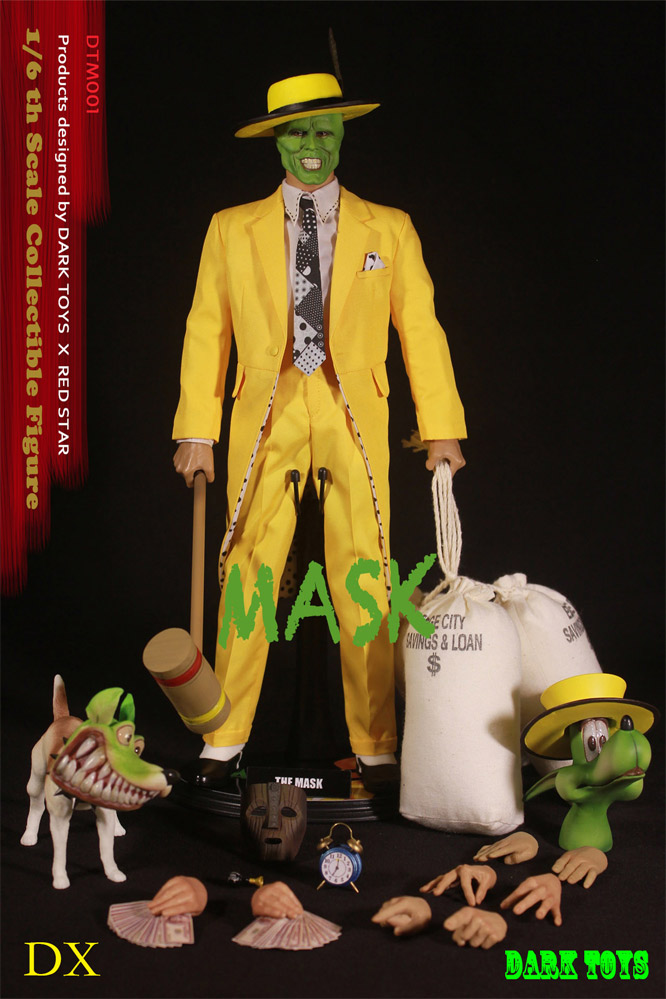 Mask 1994 Jim Carrey 1 6 Scale Deluxe Figure By Dark Toys Mask 1994 Jim Carrey 1 6 Scale Deluxe Figure By Dark Toys 161dt29 179 99 Monsters In Motion Movie Tv Collectibles