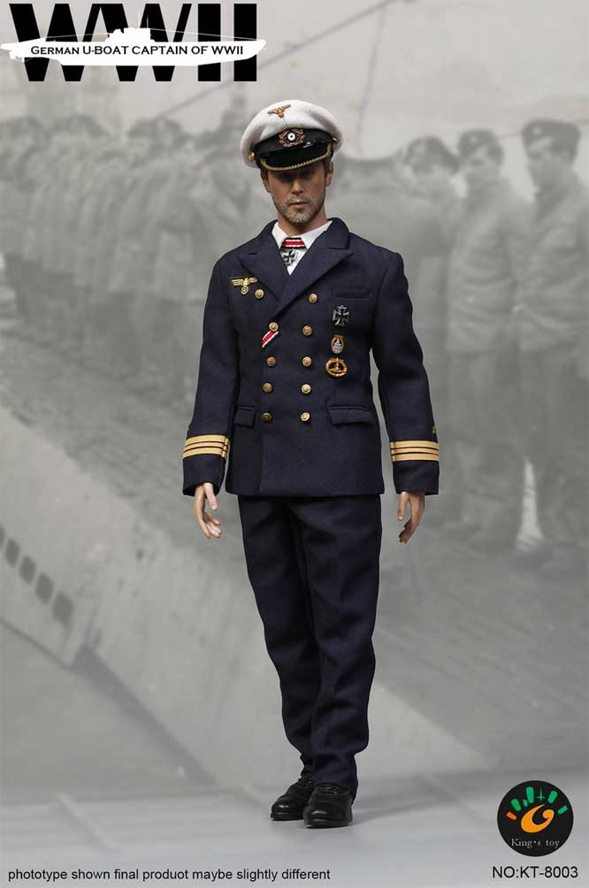 WWII German U-Boat captain 1/6 Scale Figure by King's Toy