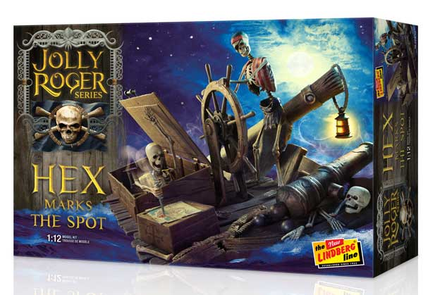 Jolly Roger Series Hex Marks The Spot Model Kit by Lindberg