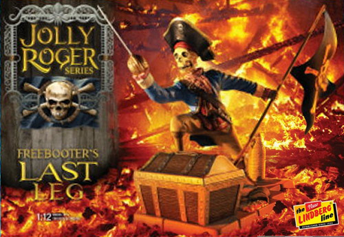 Jolly Roger Series Freebooter's Last Leg Model Kit by Lindberg