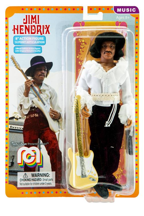 Jimi Hendrix Miami Pop Festival 8 Inch Action Figure by Mego
