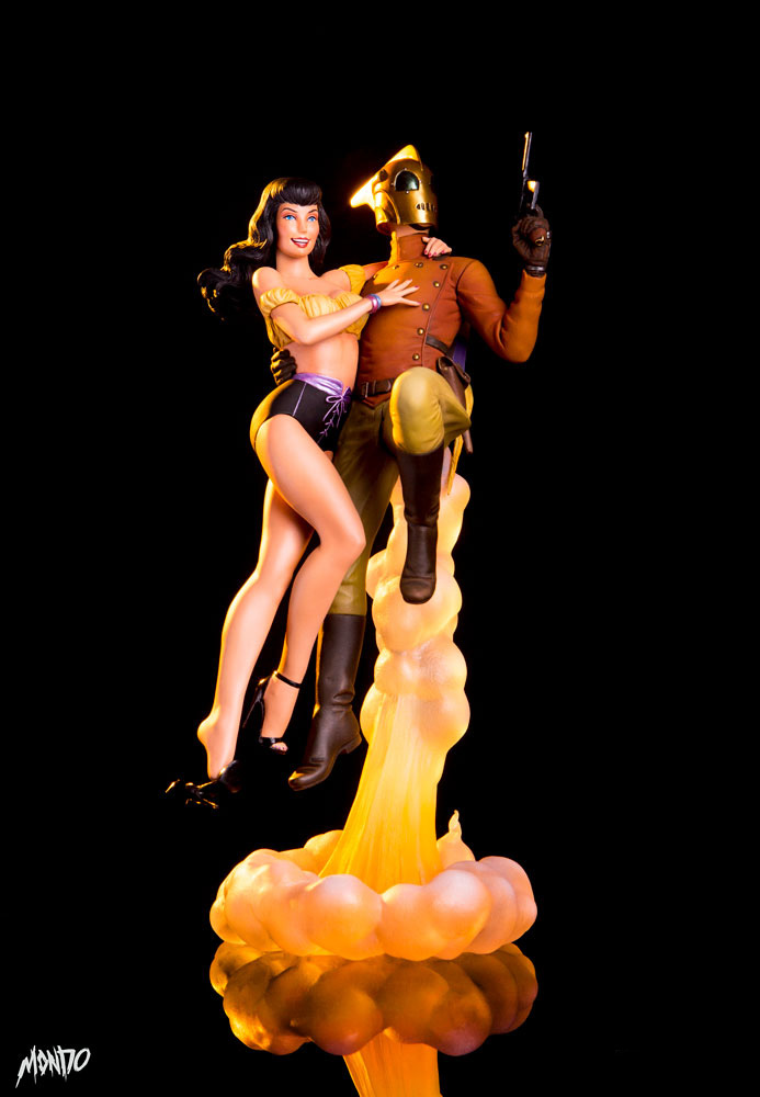 Rocketeer and Betty Page 1/6 Scale Statue by Mondo