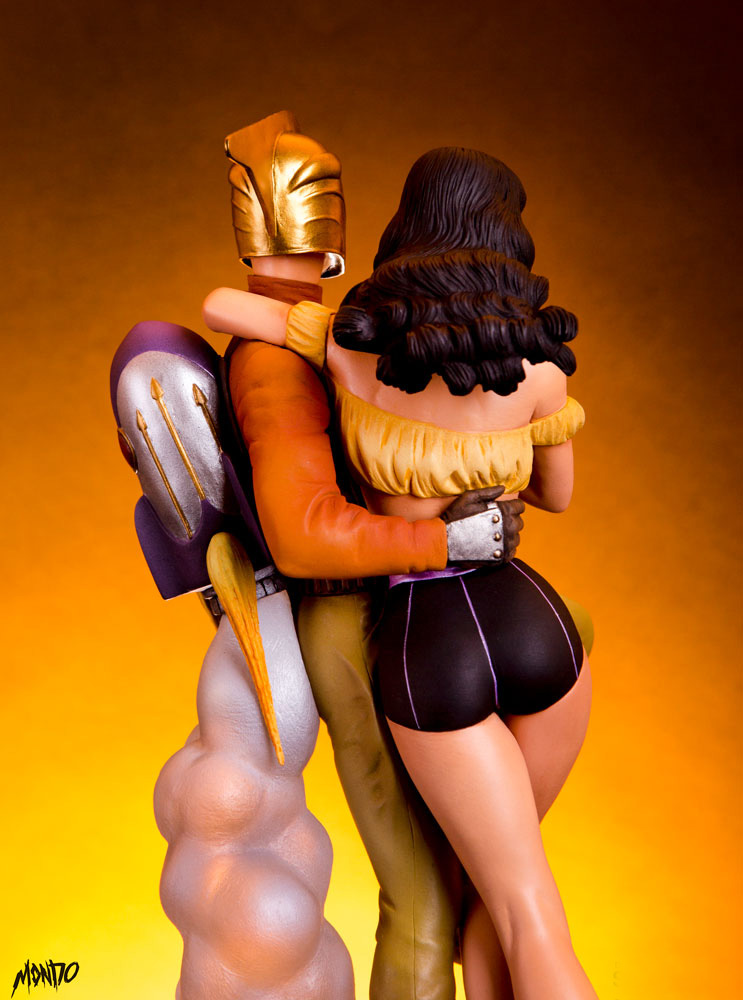 Rocketeer and Betty Page 1/6 Scale Statue by Mondo - Click Image to Close