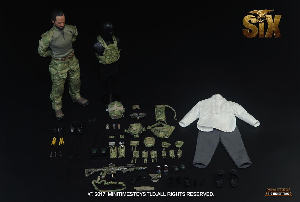 US Navy SEAL Team Six 1/6 Scale Figure by Mini Times US Navy