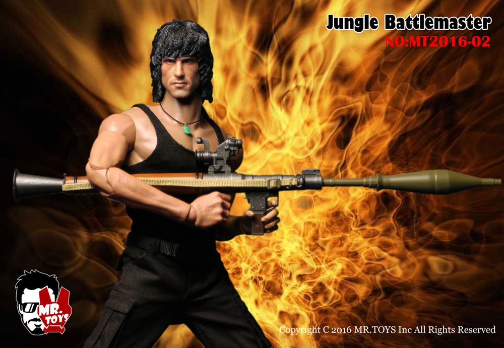 1//6 scale toy Jungle Battlemaster RAMBO Male Base Body