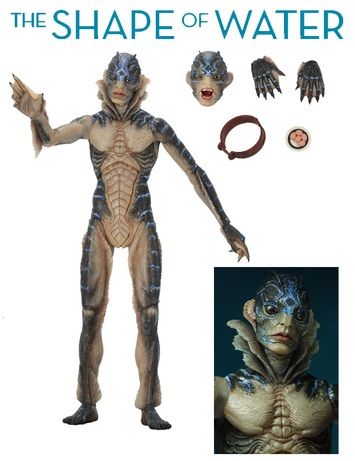 "Shape of Water Amphibian Man 7"" Scale Figure by Neca Guillermo Del Toro"