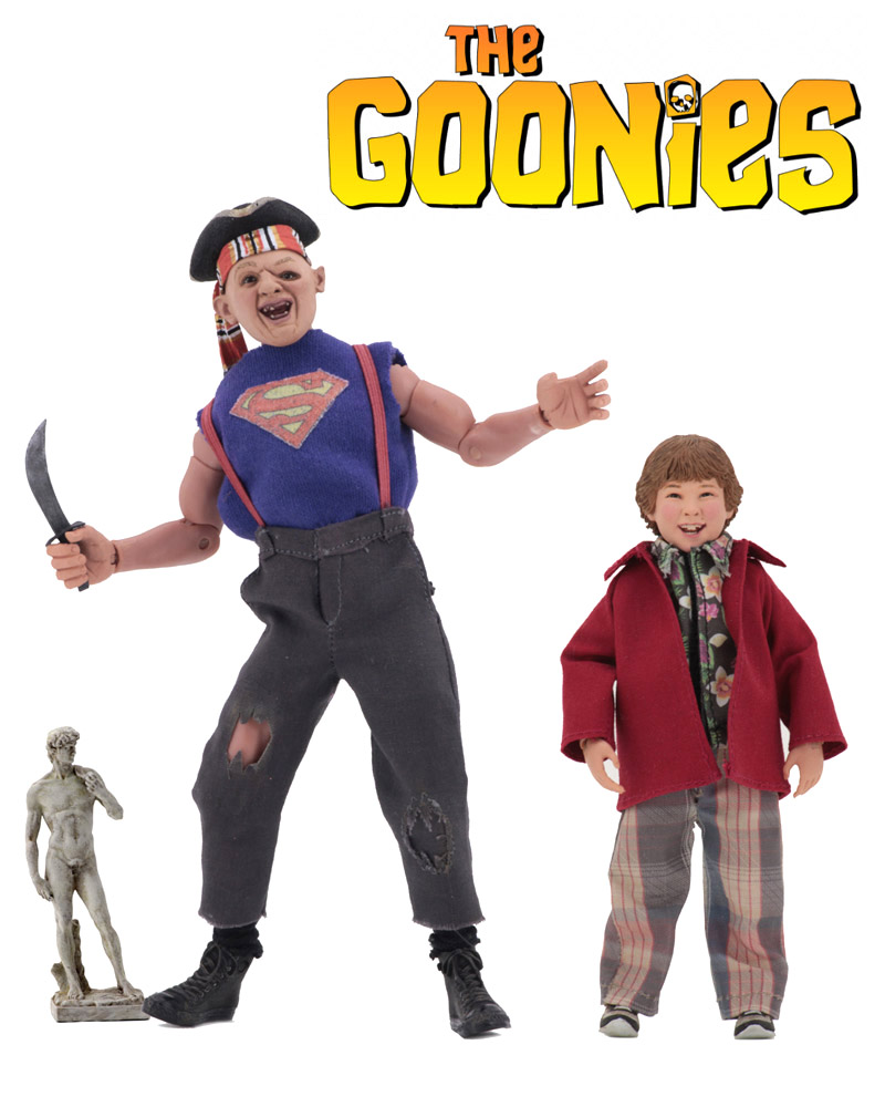 "Goonies Sloth and Chunk 8"" Clothed Figure 2-Pack by Neca"