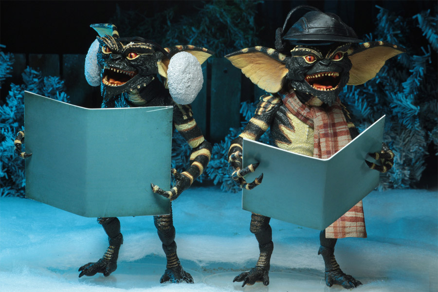 "Gremlins 7"" Scale Action Figure Christmas Carol Winter Scene Set 2-Pack"