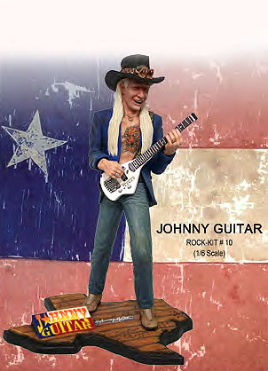 Johnny Winter Johnny Guitar 1/7 Scale Model Kit