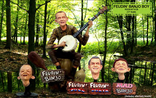 Deliverance Feudin Banjo Boy Alfred E. Neuman Resin Model Kit