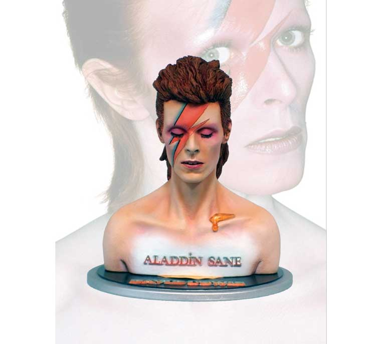 Aladdin Sane Bowie 1/4 Scale Bust Model Kit