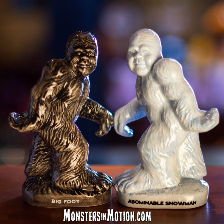 Bigfoot and Abominable Snowman Salt & Pepper Shakers