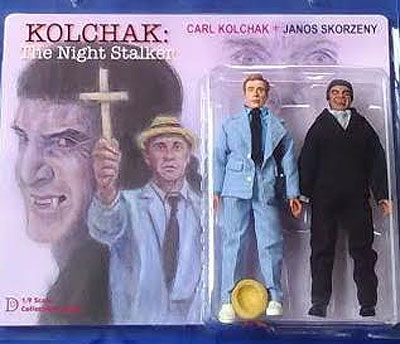 "Kolchak The Night Stalker Carl Kolchak and Janos Skorzeny 8"" Retro Mego Style Figures"