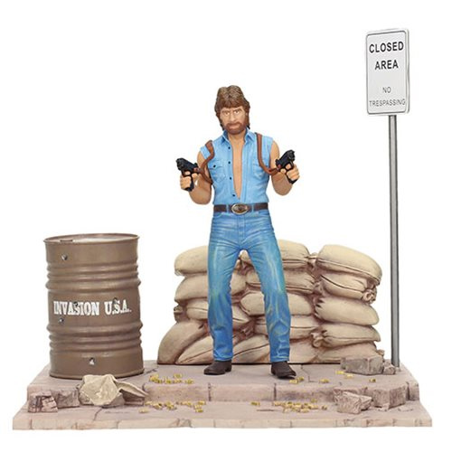 Chuck Norris Invasion USA Matt Hunter Action Figure with Diorama