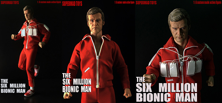 Six Million Bionic Man 1/6 Scale Figure by Supermad LIMITED EDITION OF 200 - Click Image to Close