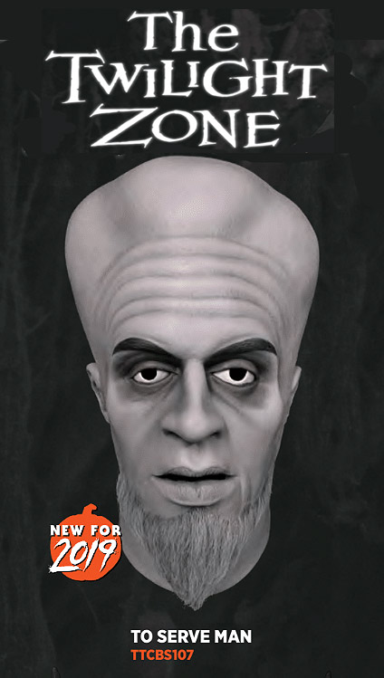 Twilight Zone To Serve Man Kanamit Latex Mask
