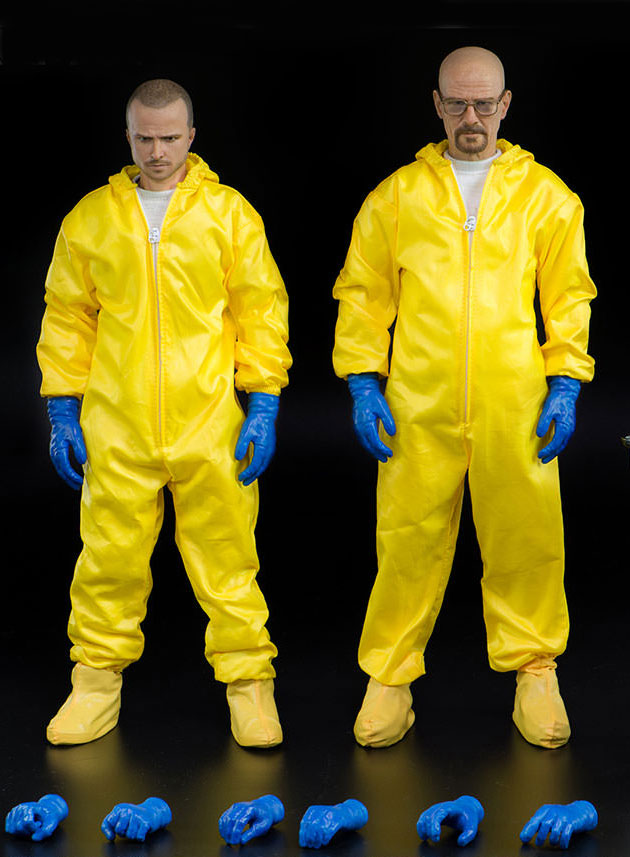 Breaking Bad Hazmat Suit Combo 1/6 Scale Figures Jesse Pinkman and Heisenberg