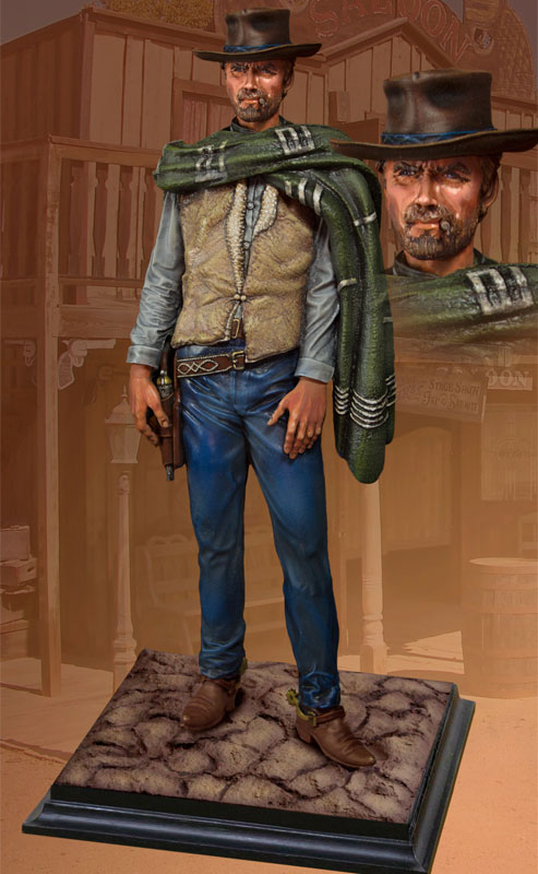"Man With No Name ""Wild West Shane"" 1/6 Scale Statue Clint Eastwood"