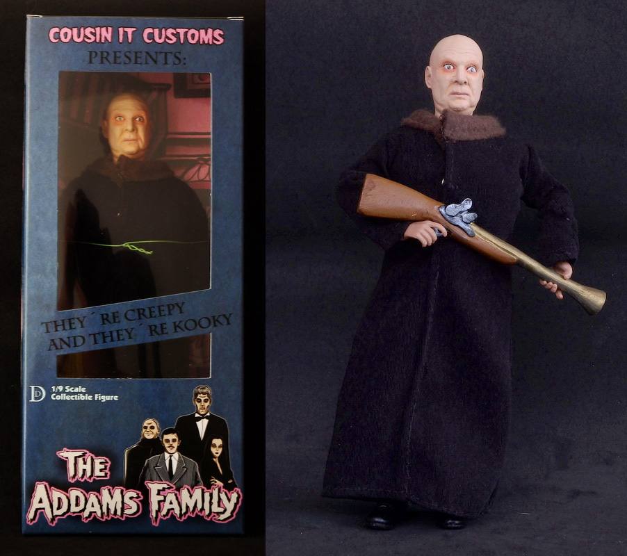 "Addams Family Uncle Fester Color Version 8"" Retro Style Figure"