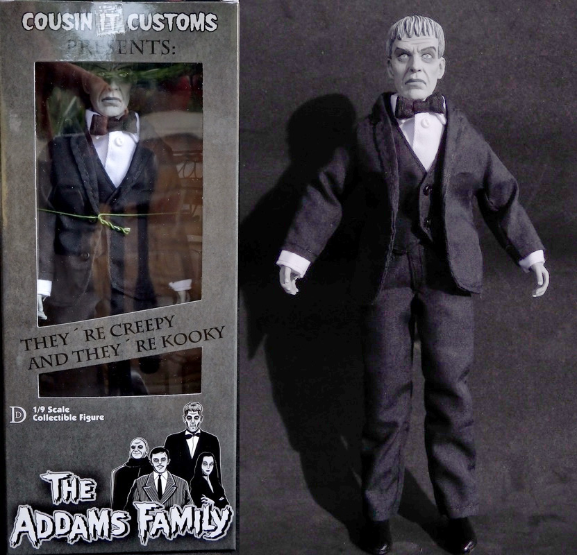 "Addams Family Lurch 8"" Retro Style Action Figure B&W Version"
