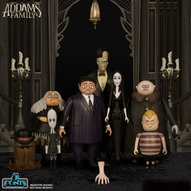 Addams Family 2019 Complete Set of 8 Action Figures