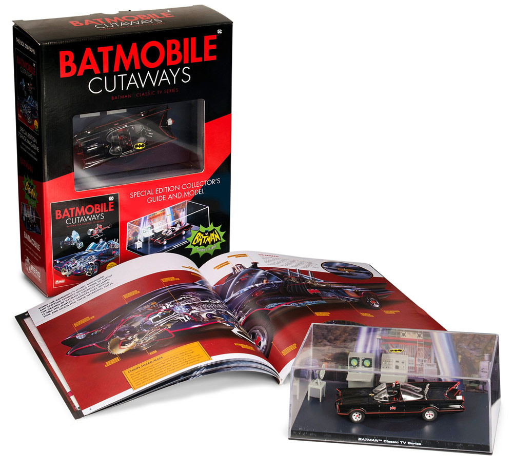 Batman Batmobile Cutaways Art Book with Batmobile Replica
