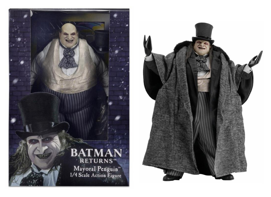 Batman Returns The Penguin Danny DeVito 1/4 Scale Action Figure Re-Issue by Neca