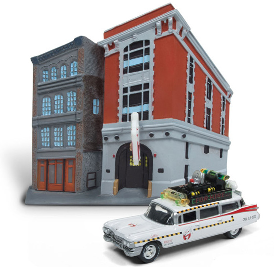 Ghostbusters II 1989 Headquarters With 1/64 Scale Ecto-1A 1959 Cadillac