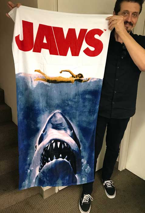 Jaws Poster Beach or Bath Towel