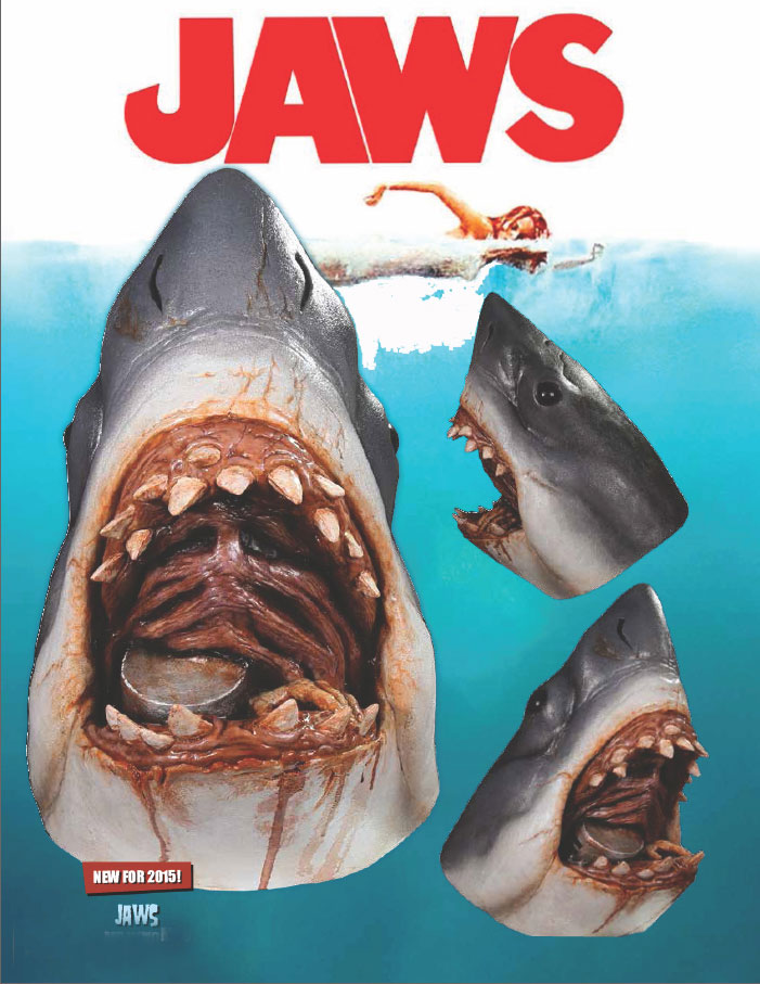 Jaws Bruce The Shark Latex Halloween Mask