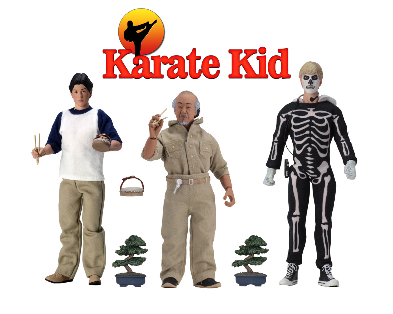 "Karate Kid 8"" Clothed Action Figures Set of 3"