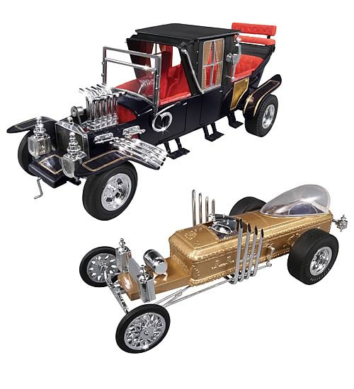 Munsters Dragula and Munsters Coach 1/25 Scale Model Kit George Barris Graveyard Ghoul Duo