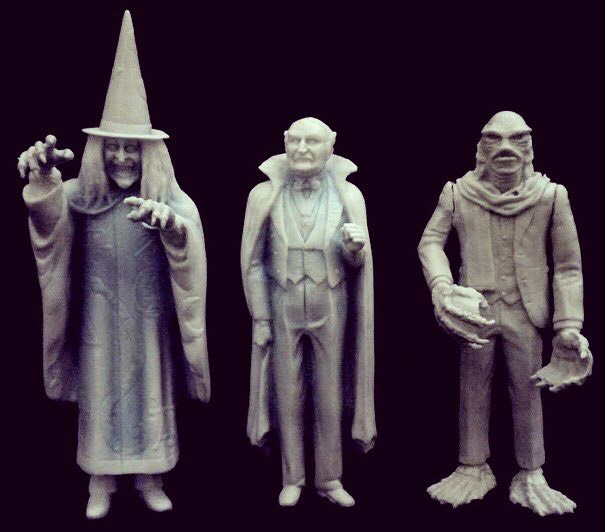 Munsters Aurora Living Room Scale Zombo, Grandpa and Uncle Gilbert (Creature) Resin Model Figures