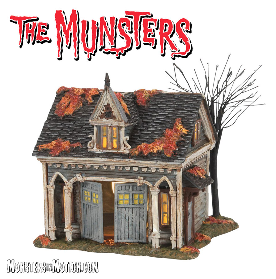 Munsters Village Carriage House Light-Up Statue by Hot Properties