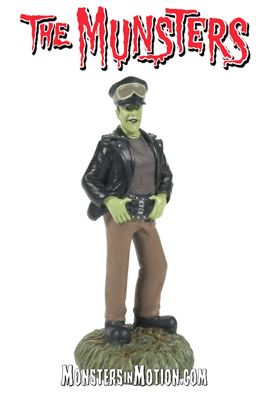 Munsters Village Hot Rod Herman Statue by Hot Properties