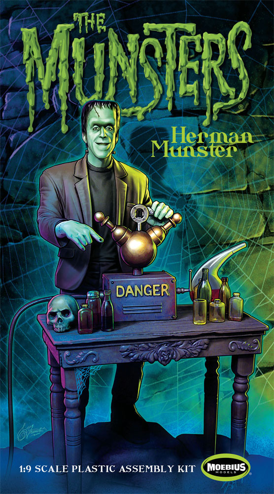 Munsters Herman Model Kit by Moebius