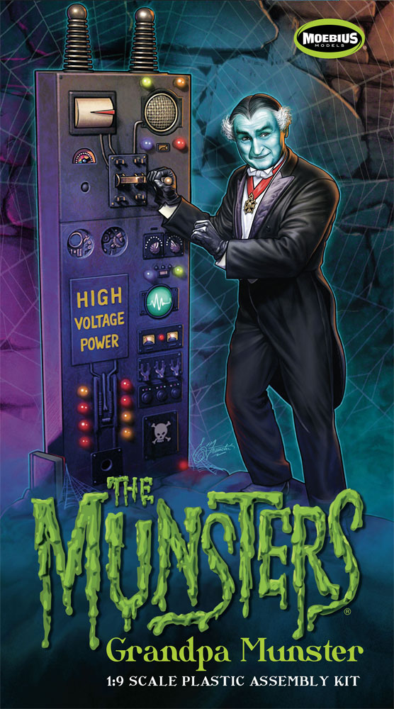 Munsters Grandpa Model Kit by Moebius