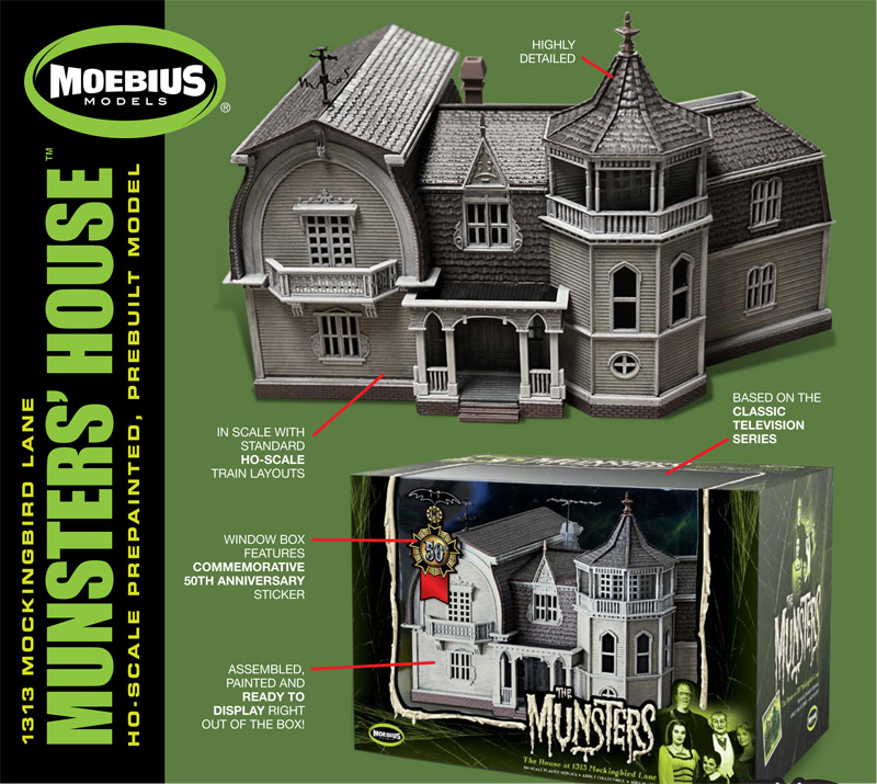 Munsters 1313 Mockingbird Lane House PRE-BUILT Model