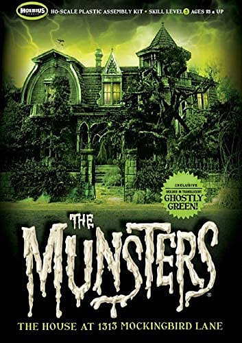 Munsters House Ghostly Green Version Model Kit by Moebius