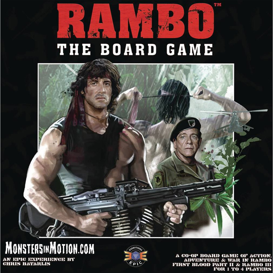 Rambo First Blood Part 2 And Rambo 3 Tabletop Board Game Rambo First Blood Part 2 And Rambo 3 Tabletop Board Game 16ree02 94 99 Monsters In Motion Movie Tv Collectibles