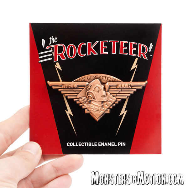 Rocketeer 1991 Thrill Club 3D Molded Lapel Pin