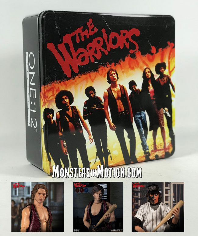 "Warriors 1979 40th Anniversary Set of 4 6"" Figures by One:12 Collective Mezco"