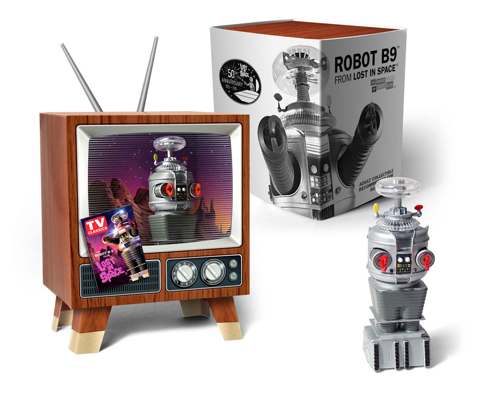 Lost In Space YM-3 Robot Mini Display Model in Retro TV