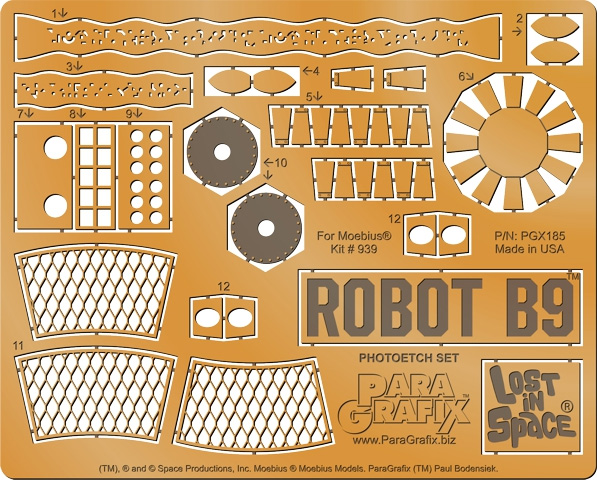 Lost In Space B-9 Robot 1:6 Photoetch Model Kit Upgrade Set YM-3