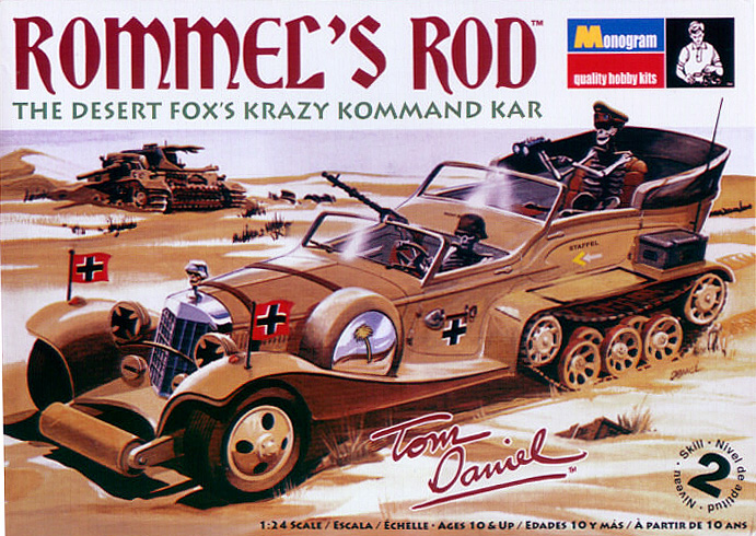 Tom Daniel's Rommel's Rod 1/24 Scale REISSUE Plastic Model Kit
