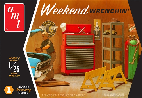 AMT Garage Accessory Series #1 Weekend Wrenchin' 1/25 Scale Model Kit