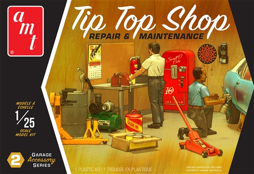 AMT Garage Accessory Series #2 Tip Top Shop 1/25 Scale Model Kit