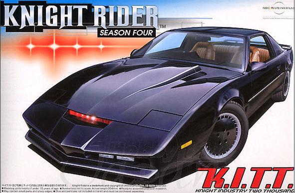 knight rider season 4 kitt 1 24 scale model kit by aoshima. Black Bedroom Furniture Sets. Home Design Ideas