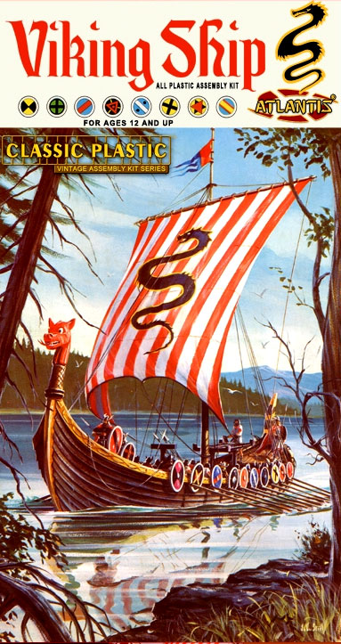 Vikings 1958 Viking Ship Aurora Re-Issue Model Kit