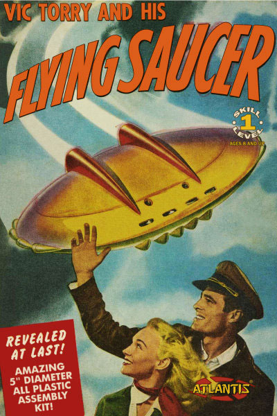 "Vic Torry and His Flying Saucer 5"" Plastic Model Kit"